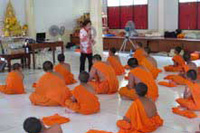 Bleumjit Rubin, Antismoking Campaign for Novice Monks Wat Lathiwanaram, Phuket, Thailand
