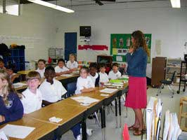Emergency assistance to elementary school hit by hurricane Katrina